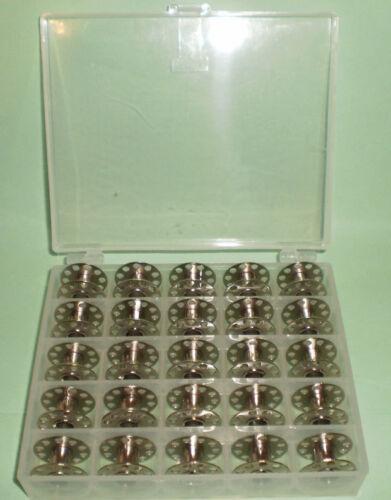 25 KENMORE VIKING WHITE SINGER 15 CLASS SEWING MACHINE METAL BOBBIN BOBBIN BOX