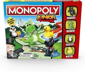 Monopoly-Junior-Spiel-von-Hasbro-Brettspiel-fuer-Kinder-Familie