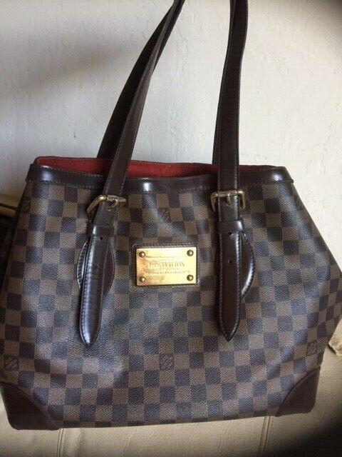 Auth Louis Vuitton Damier Canvas Hampstead Pm Handbag For Sale Online Ebay