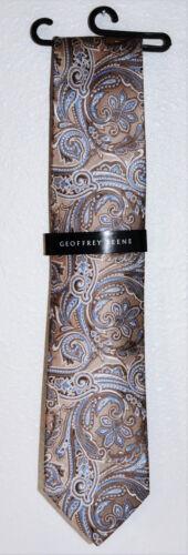 Geoffrey Beene Men/'s Neckwear Neck Tie Color Paisley Blue Beige Green or Red