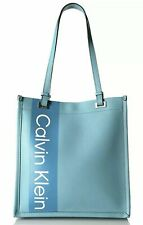 6700d70ba42 Calvin Klein NWT $148 Cornflower Blue Tote Shopper Saffiano Leather Franzy  Logo