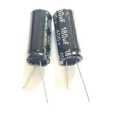 2PCS 420V 180uF 420Volt 180MFD 105C Aluminum Electrolytic Capacitor 18mm×45mm