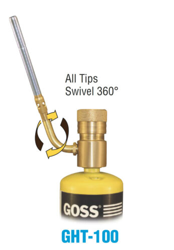 Goss GHT-100 Soldering Brazing Hand Torch with Hot Turbine Flame