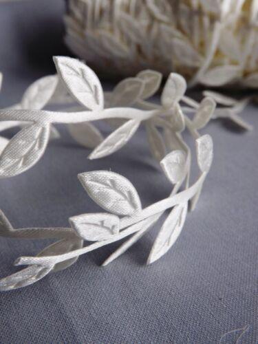VINTAGE Satin Leaf Leaves Vine Garlands Ribbon Sew On Lace Trim Bridal