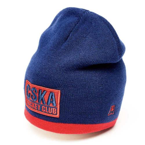 "HC CSKA Moscow /""CSKA Hockey Club/"" KHL beanie hat dark blue officially licensed"