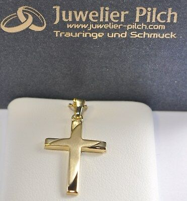ANADA Gelbgold 333 Gold Top Qualität Kreuzanhänger Anhänger Kreuz