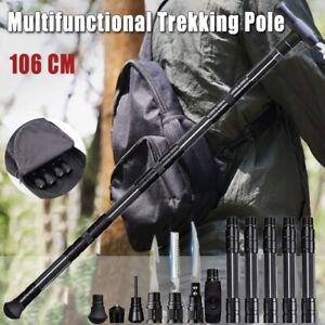 Trekkingstöcke Überleben Multifunktion-Taktisch Stock Walking Cane Alpenstock