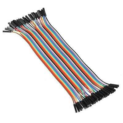 40PCS Dupont Wire Color Connector Cable 2.54mm 1P-1P For Arduino NEW