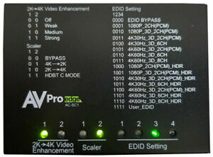 AVpro Edge Ac-sc1-auhd 4k HDMI Up/down Scaler