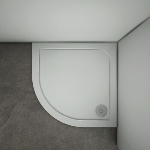 760x760x30mm Quadrant Universal Walk in Shower Enclosure Slimline Stone Tray S8