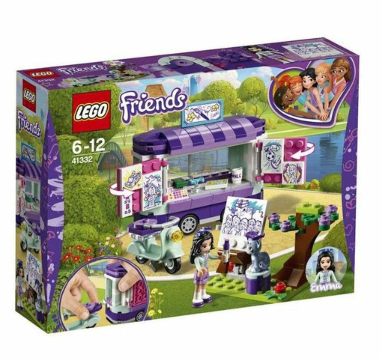 [LEGO] Friends Emma's Art Stand 41332 2018 Version Free Shipping