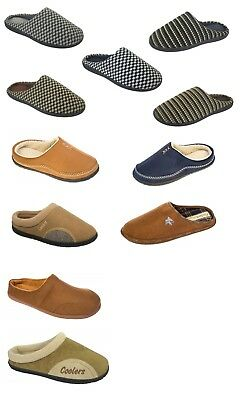 MENS COOLERS TEXTILE SLIP ON  FLEECE WARM COZY WINTER CASUAL SHOES SIZE UK 7-12