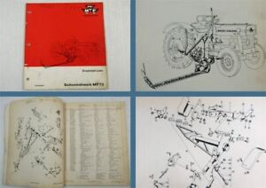 Massey-Ferguson-MF73-Seitenmaehwerk-Ersatzteilliste-Parts-List-fuer-MF-135-140-145