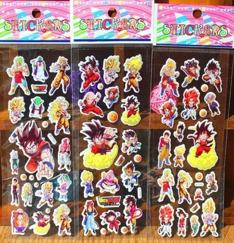 Puffy Japan Anime Dragon Ball Z Stickers for Dragon Ball Z Fans ~3PCs~ ♫