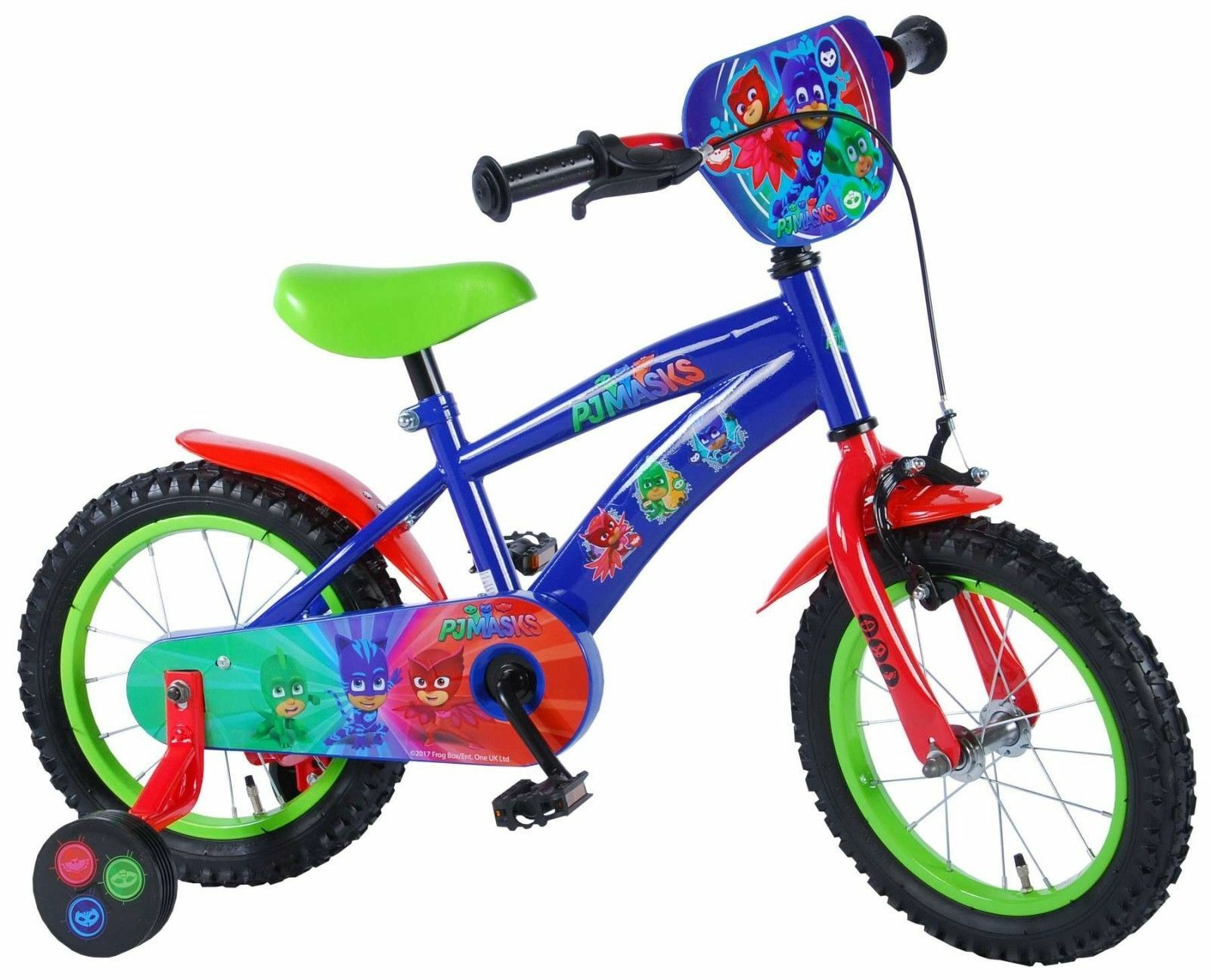 PJ Masks Kinderfahrrad 14 Zoll Fahrrad mit Stützräder Jungen Mädchen 71463