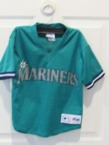 official photos 0d785 31391 Details about KEN GRIFFEY JR. SEATTLE MARINERS Baseball jersey Majestic  boy's size medium MLB
