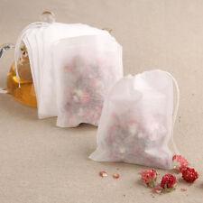 100pcs Reusable Nut Milk Tea Fruit Juice Cotton Mesh Strain Filter Bags 5.5 x7cm