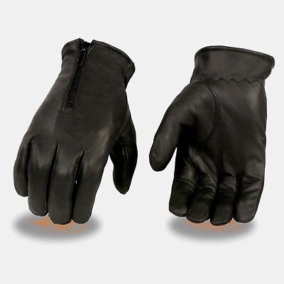 Milwaukee Leather Men/'s Distressed Grey Driving Gloves W// Snap Closure  **MG7507