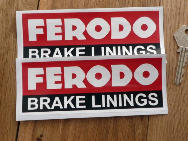 FERODO BRAKE LININGS Motor Racing Sponsors Stickers