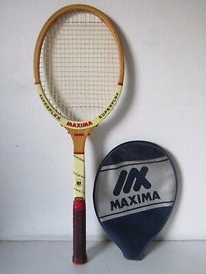 Affidabile Racchetta Da Tennis In Legno Maxima Superflex Torneo Vintage Da Collezione Attraente E Durevole
