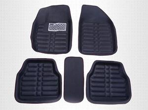 5X-Universal-Black-Car-Floor-Mats-FloorLiner-Front-amp-Rear-Carpet-All-Weather-Mat