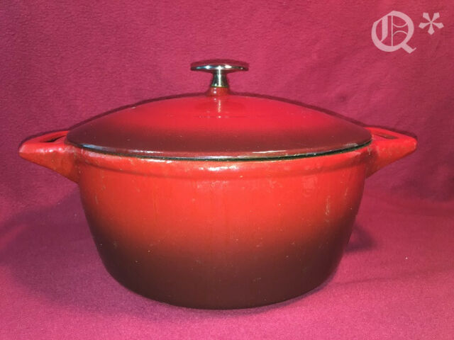 Island Spice Red Classic Red Enamel Dutch Oven Lodge 6 Quart Enameled Cast Iron Dutch Oven