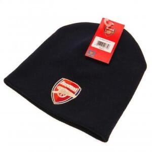 Official Arsenal Football Club Navy Knitted Beanie Hat Winter Adult  Clothing ACC 833dfed61a7