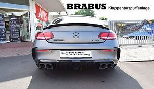 brabus heckansatz auspuff c63 amg c klasse c205 carbon. Black Bedroom Furniture Sets. Home Design Ideas