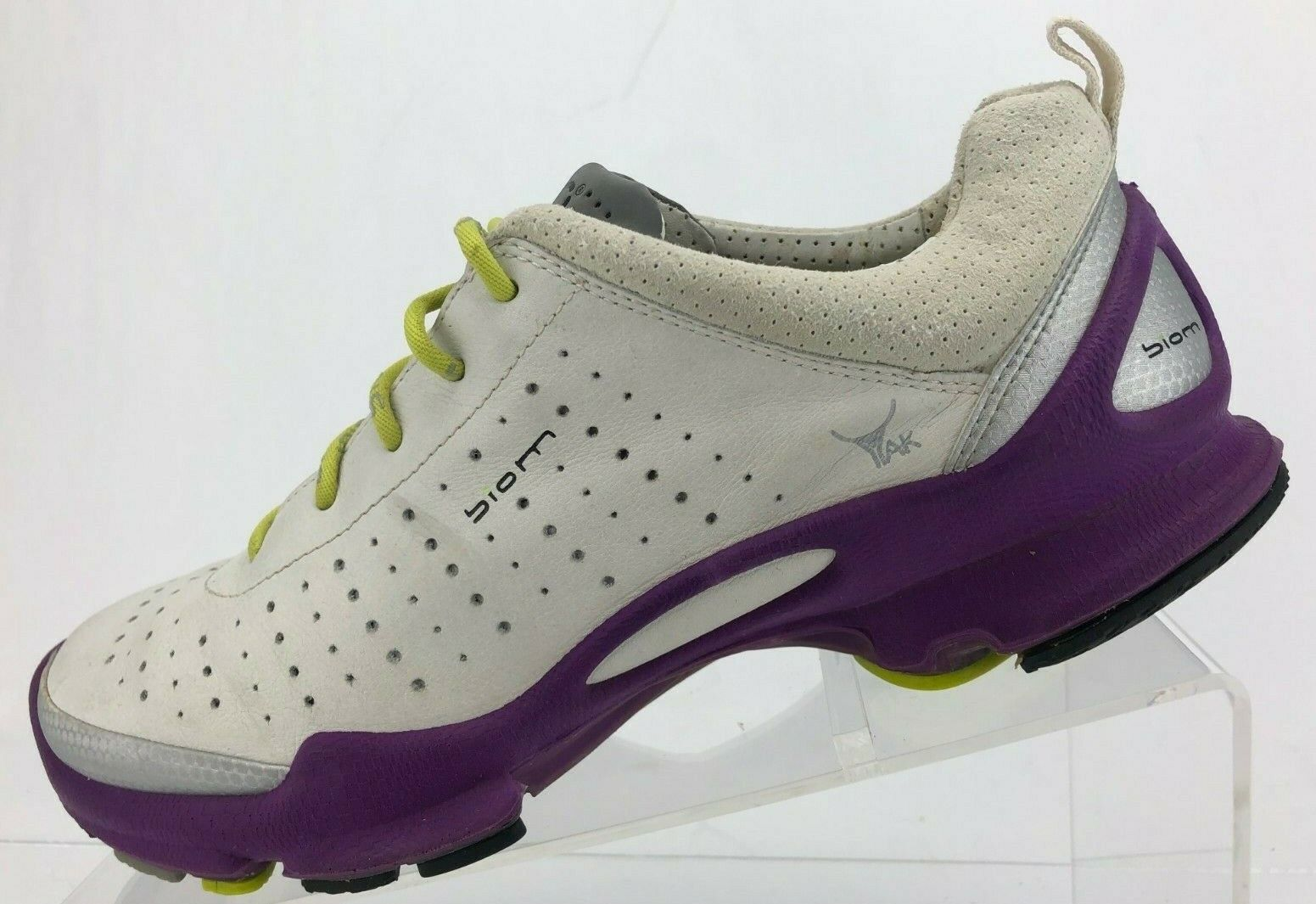 Ecco Biom Yak Natural Motion Sneakers White Purple Hiking shoes Womens 38 7,7.5