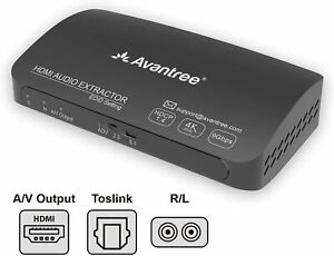 4K 30Hz 2160P HDMI Audio Extractor Splitter Converter HDMI to HDMI + Audio Out