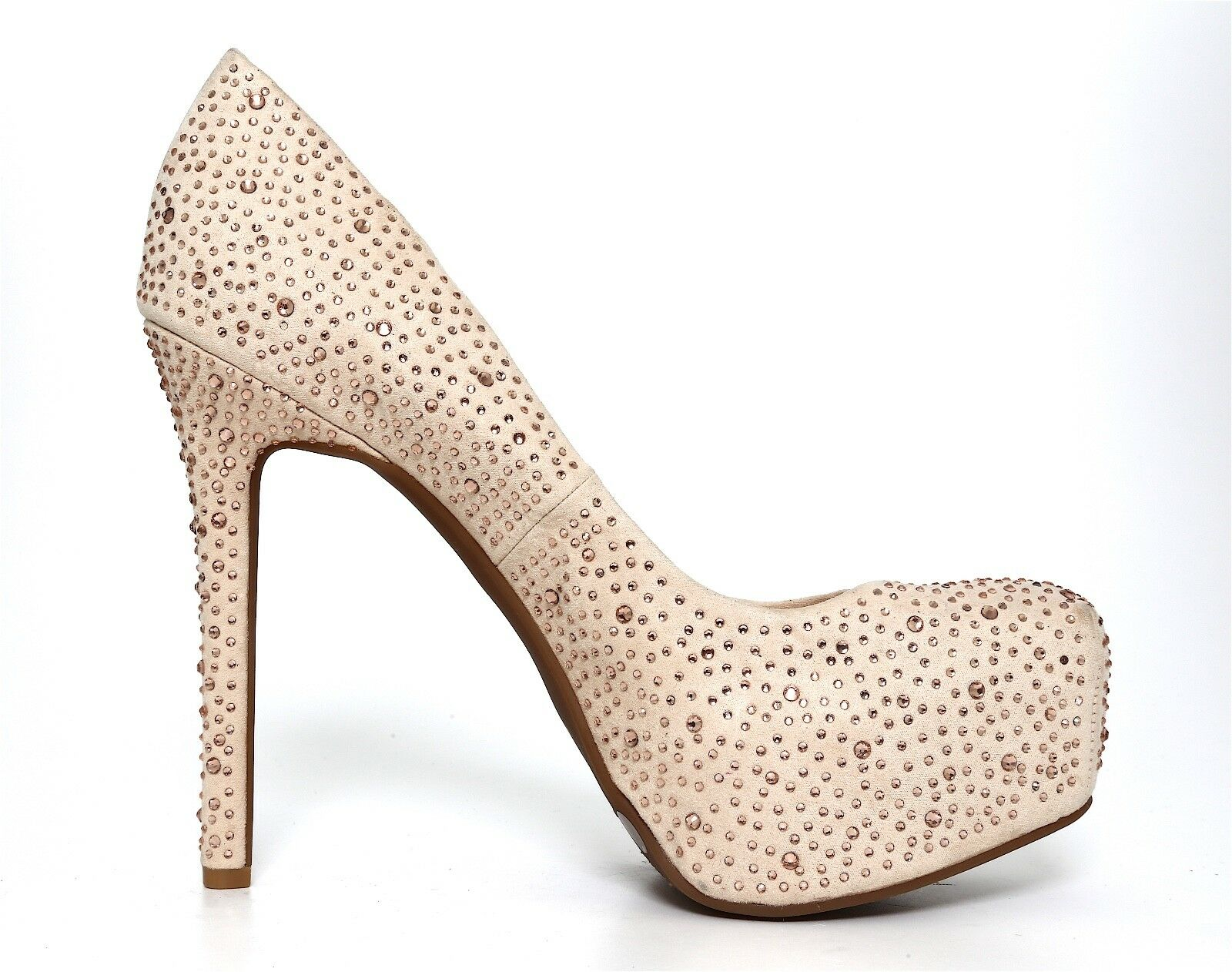 Jessica Simpson Rebeca Suede 7.5 High Heel Pump Beige damen Sz 7.5 Suede M 1421 ff86fe