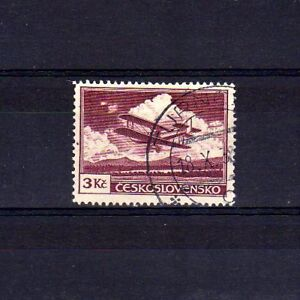 TCHECOSLOVAQUIE-Poste-Aerienne-n-13a-oblitere