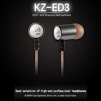 KZ ED3 3.5mm In-ear Interactive Double Unit Earphone Headphone Free Shipping