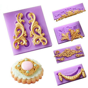 Relief-Baroque-Silicone-Fondant-Mould-Vintage-Cake-Border-Decor-Sugar-Paste-Mold