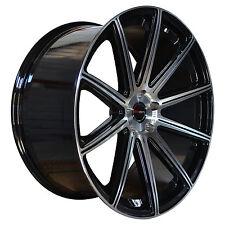 Set of 4 GWG Wheels 22 inch Black MOD Rims 5x114.3 ET18 CB74.1