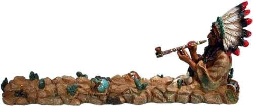 American Peace Pipe Smoking Chief Incense Stick /& Cone Burner Ash-catcher #3085