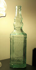 Vintage Vidrios San Miguel Embossed Bottle c.1980's 11.75 inches high