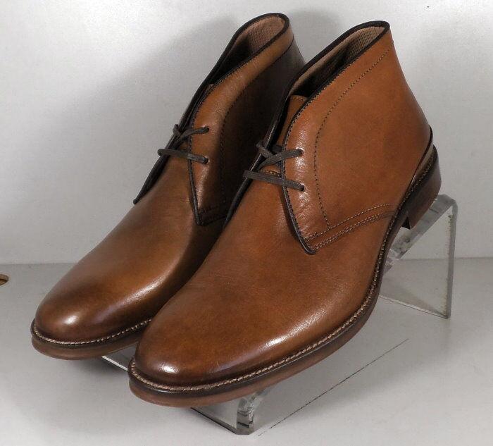 202516 SPBT 50 Chaussures Hommes Taille 9 M marron clair en cuir à lacets Bottes Johnston & Murphy