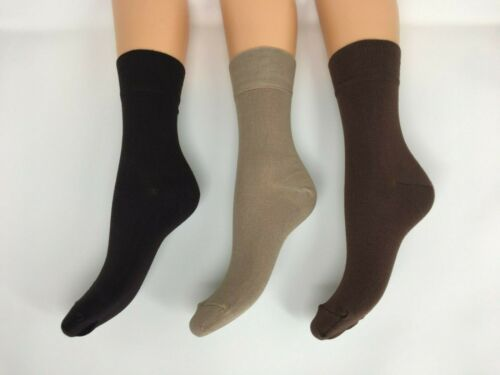 Brown LUXURY Bamboo Ladies ankle socks Extra Soft Ankle socks Size 4-7 1PP UK