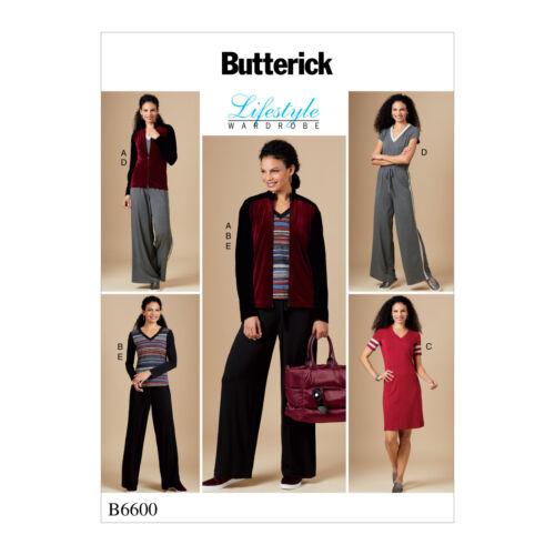 Butterick 6600 sewing pattern pour rendre Stretch Top Robe Combinaison Pantalon