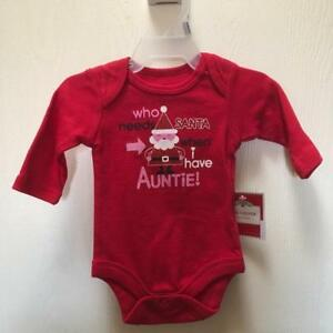 Who Needs Santa When You Have Auntie Christmas Baby Bodysuits Baby Shirt
