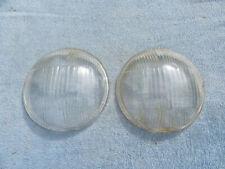 Original 1937 1938 Chevrolet Tiltray Headlight Lenses Pair