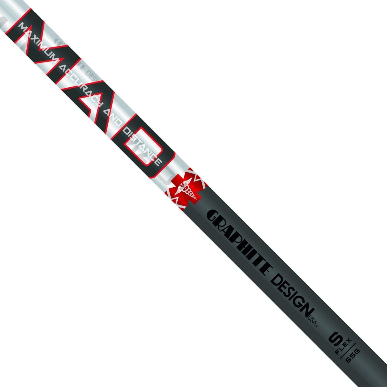 GRAPHITE Design Mad 55 Eje rígido Flex Para Driver Taylormade M5 M6