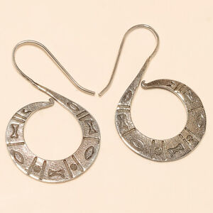925-Sterling-Silver-Designer-Filigree-Earrings-Christmas-Women-Retro-Jewelry-New