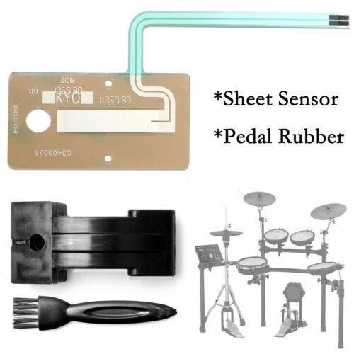 Ersatz Blattsensor /& Pedal Rubber Kit Set für Roland Drum FD-8 TD-1 Hi Hat Neu