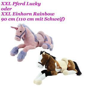 xxl pl sch pferd einhorn liegend stofftier kuscheltier. Black Bedroom Furniture Sets. Home Design Ideas