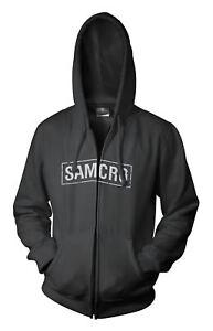 Sons Of Anarchy Samcro Logo Mens Black Zip-Up Hoodie Sweatshirt
