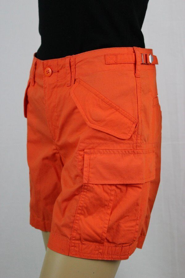 Ladies Lauren Ralph Lauren orange Cargo ShortsNWT