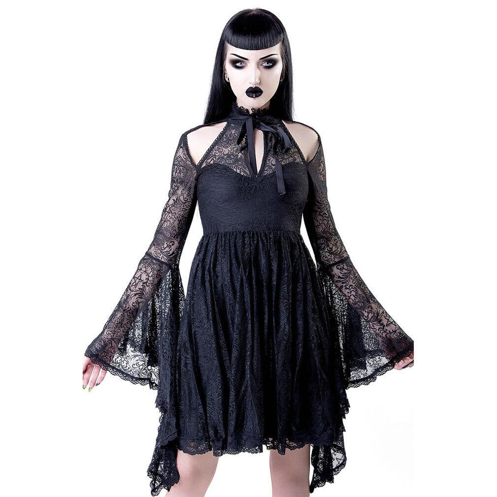 Killstar Gothic Goth Okkult Lolita Spitze Minikleid - She's Stardust Pentagramm