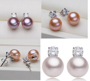 7-8mm-Freshwater-Pearl-Sterling-Silver-Cubic-Zirconia-Stud-Earrings-Gift-Box-PE